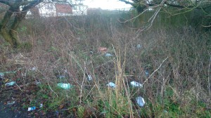Rubbish thrown away by side of Suttons Drive